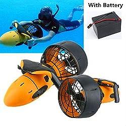 BOBOCHOM Scooter Marin De Scooter,Venir avec Batterie, De Mer De Plongée D'hélice sous-Marine Électrique Imperméable 300W À Deux Vitesses De Piscine