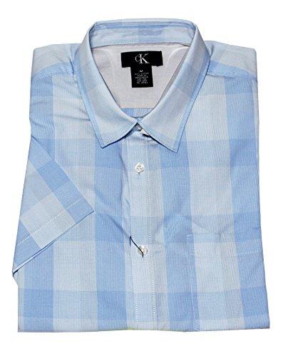 Calvin Klein - Chemise casual - Avec boutons - Manches Courtes - Homme Bleu - Tidal Wave