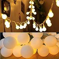 Loyiigo Guirnalda Luces 10M 100 LED Decoración al aire libre para Patio Garden Party Cálida Luz Blanca Bajo Consumo Al Ser Leds Permite Abarcar Bastante Distancia