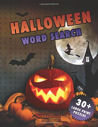 h: 30+ Large Print Puzzles (Halloween Books) (Halloween Word Search)