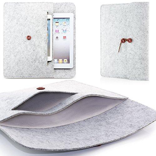 """Zanasta 7-12 Pouces Etui Housse Sac Protection en Feutre Universel pour Samsung Galaxy Tab, Microsoft Surface Pro, Apple iPad Air, Pro et Macbook 12"""", 2 Compartiments   Gris"""