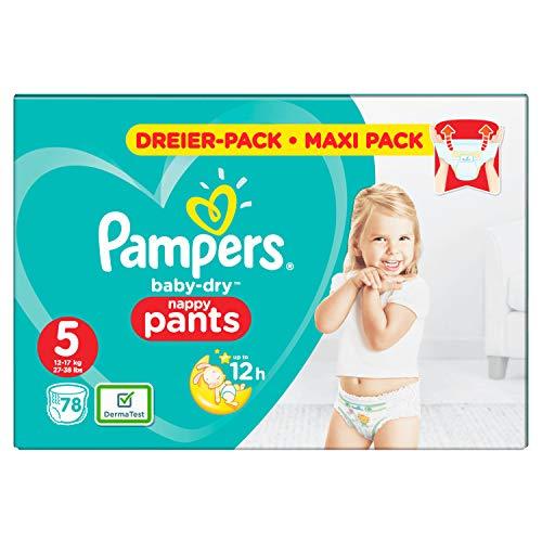 Pampers Baby-Dry Pants Größe 5, Windeln, Mit Luftkanälen, 78 Stück