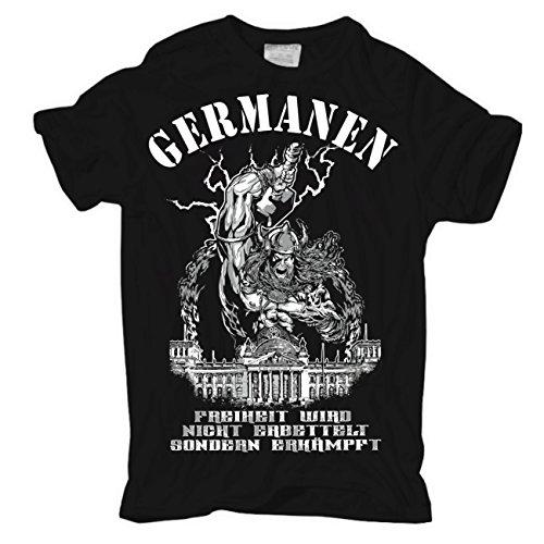Life Is Pain Männer und Herren Tshirt Germanen Rauflustig Trinkfreudig Unberechenbar (mit Rückendruck)