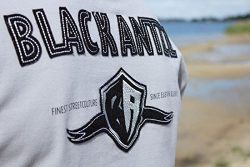 Cooles BLACK ANTZZ Polo-Shirt POLO ONE in 5 Farben mit Schriftzug und Emblem Grau