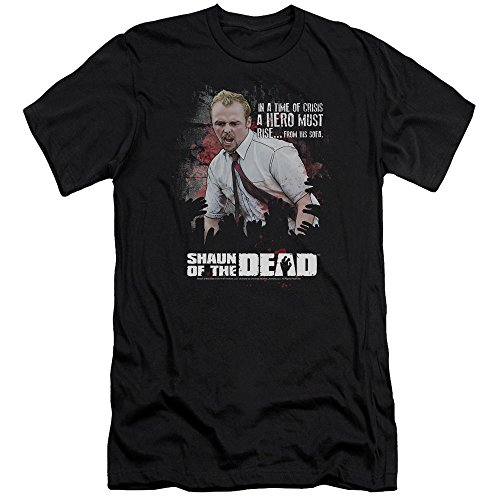 Shaun Of The Dead - - Hero hommes doivent se lever Slim Fit T-shirt
