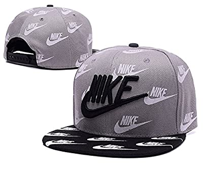 Unisex Nike Einstellbare Hip Hop Sport Fans Hut Hysteresen Baseballmütze (grau)