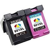 AideMeng Remanufactured pour HP 901 XL 901XL Cartouches d'encre (1 Noir, 1 Tri-Couleur) Compatible pour HP Officejet 4500 G510a 4500 G510g 4500 G510n J4500 J4524 J4525 J4535 J4540 J4550 J4580 J4585