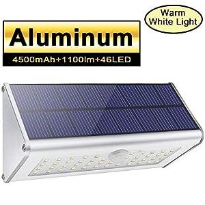 1100lm-4500mAh-46-LED-Luces-Exteriores-Solares-Aleacin-de-Aluminio-Silver-120-Sensor-de-Movimiento-Infrarrojo-Impermeable-IP65-Luz-de-Seguridad-Inalmbrica-con-4-Modos-Inteligentes-para-Jardn-Patio-Val