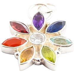 Colgante con Piedras - Diseño de Estrella Chakra
