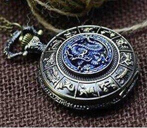 bronze-antique-collier-montre-de-poche-de-dragon-bleu