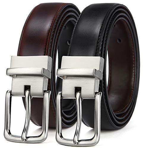 6c999539b0 BULLIANT Uomo Cintura,Pelle Reversibile Cintura 35MM,Un cinturón invertir de  dos colores,