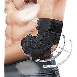 LIUMY Ellenbogenbandage Ellbogen Bandage Tennisarm für Herren & Damen Verstellbare Atmungsaktive Ellbogenschiene für Kraftsport Golferarm Handball