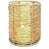 Nexplora Industries Decorative Wired Iron Tealight Candle Holder (Gold) 10 CM