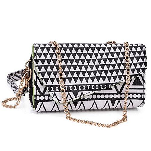 Kroo Pochette/étui style tribal urbain pour Lava Iris 400S/401 Multicolore - vert Multicolore - Noir/blanc
