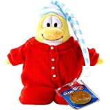 Disneys Club Penguin Series 2 Red Pajama Limited Edition 6.5 Plush (Includes Coin with Code) by Club Penguin