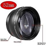 Neewer® 52mm 2x Professionnel Grande Vitesse Téléobjectif pour Nikon 18-55mm f/3.5-5.6G ED II AF-S DX et d'Autres Appareils Photo Reflex & Caméscopes avec 52mm Filetage