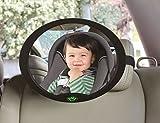 Rétroviseur automobile pour bébé, 100% incassable, forme ovale grande, prêt à l'emploi, entièrement réglable, incroyablement facile à installer avec des sangles de fixation réglables, installation anti-vibration et rapide, de haute qualité