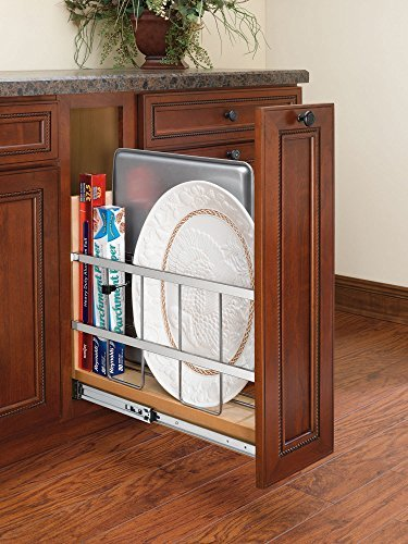Rev-A-Shelf-447-BC-5C-5-in-Pull-Out-Wood-Base-Cabinet-Tray-Divider-and-Foil-Wrap-Organizer-by-Rev-A-Shelf