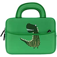 MoKo Funda de Fieltro Universal - Portátil Sleeve Bag 7-8 Pulgadas Bolsa de Neopreno Cover Case para iPad Mini 4 3 2 1 / Samsung Galaxy Tab S2 8.0 / Dragon Touch Y88X Plus Tableta, Dinosaurio Verde