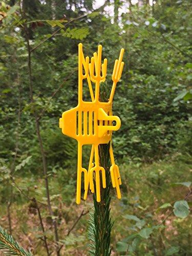 Volk's Baum Verbissschutz- Schutz vor Wildverbiss 100 Stück in Gelb (Qualität direkt vom Hersteller)