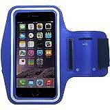 Pratique sport pour smartphones & mP3 avec compartiment pour clef de primaCase BlackBerry Priv  - 04.Blau