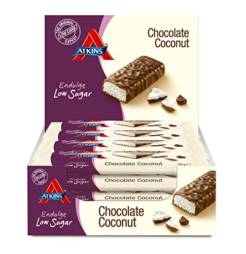 Atkins Endulge Chocolate Coconut, Low Carb, Low Sugar Snack Bar, 15 x 35g