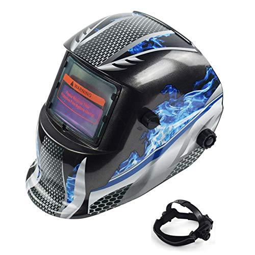 Walkretynbe Schutzbrille mit Lichtbogensensor, große Sicht, solarbetrieben, mit automatischer Batterie