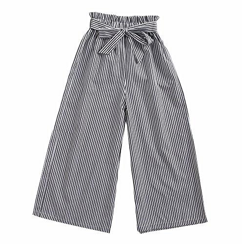 Sanlutoz Mode Streifen Mädchen Hosen Kinder Baumwollhose Lässige kleidung Bündeln Weich (7-8 Jahre / 130cm, ()