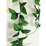 Cryoc Artificial Plant Vines- Refreshing Green Shades(1pc) / Artificial Plants For Living Room / For Wall Decoration, Wedding Decoration, Party Decoration, Vehicle Decoration, Stage Decoration / Length 8 Feet (8ft X 1pc) / Artificial Plant Creeper / Plast