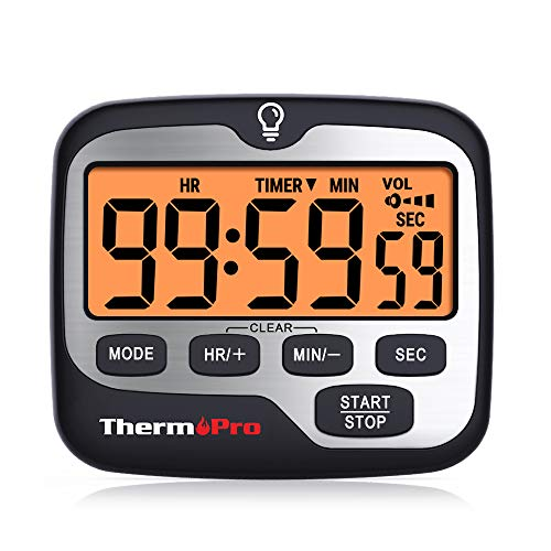ThermoPro TM01 Temporizador Cocina Digital Cuenta