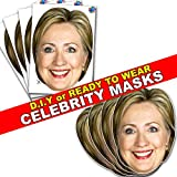 Party People Hilary Clinton - Celebrity Face Mask - Ready To Wear - Budget Range