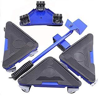RDJM Kit de déplacement de Meubles, lève Meuble/lève Porte, avec 1 soulève-Meuble pouvant soulever 150kg et 4 roulettes pour déplacer Les Meubles Facilement