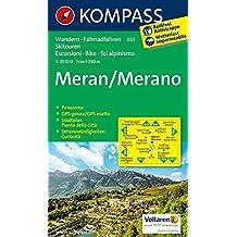 Meran / Merano 1 : 25 000 (KOMPASS-Wanderkarten, Band 53)