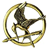 #10: Yellow ChimesHunger Games Mocking Jay Bird Brooch for Boys and Girls