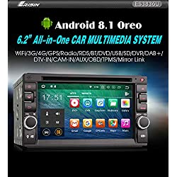 Autorradio Erisin ES3836U 6.2ᄀᄚ Doble Din Android 8.1 Nissan/Universal GPS WiFi DAB+Nav