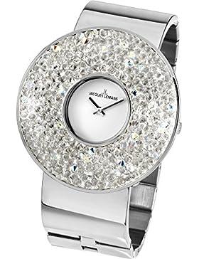 Jacques Lemans Damen-Armbanduhr XL Flora Analog Quarz Edelstahl 1-1789D