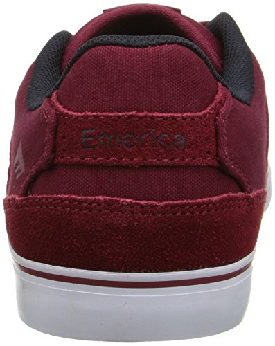 Emerica The Reynolds Low Vulc, Chaussures de skateboard homme Red - Burgundy