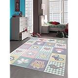 Teppich-Traum Kinderteppich Spielteppich Teppich Kinderzimmer Karo Design in Pastell, Größe 120x170 cm