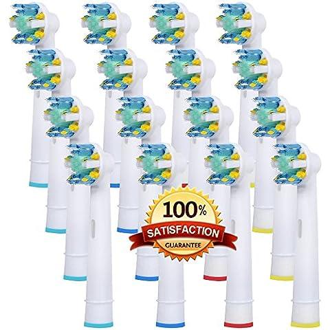Belleza de alta calidad en forma de ninfa–Cabezales para cepillo de dientes eléctrico compatible para sustituir oral b floss Action–EB-25Generic cabezales de cepillo