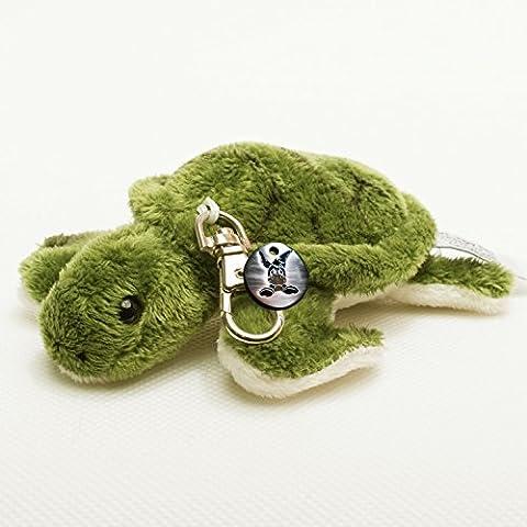 Schildkröte DANCER 11,5 cm Schlüsselanhänger Plüschtier von Kuscheltiere.biz