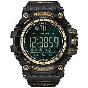 Montre Intelligente de Smael, Montre Militaire de Poignet de Montre Militaire de Sports de Digital dhommes avec Le Contre-Jour de LED