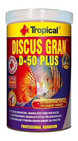 Tropical Diskus Gran d-50Plus 1000ml/380g colour-enhancing sinkend Granulat für Diskus. (Tropical-flocken Plus)