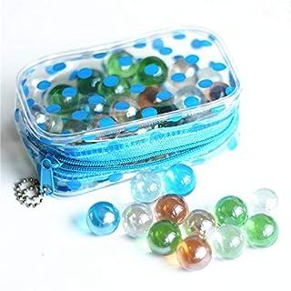 the GreatTony Murmeln Klein 16mm, Glasmurmeln, Gemischte Murmeln, Planetenmurmeln, Murmeln Glas 16mm 50 Murmeln mit Tasche, Kinder