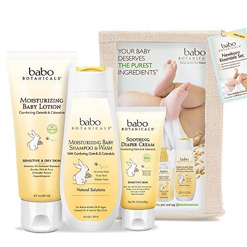 Babo Botanicals Essens-Set für Neugeborene, 3-teilig - Bestes Geschenk für Babyparty