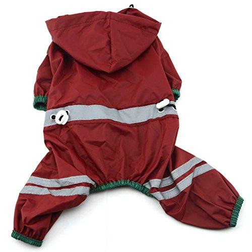 Imagen de xiaoyu mascota cachorro cachorro de perro chaqueta impermeable impermeable con  para perros pequeños medianos, rojo, xxl alternativa