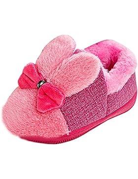 Babyschuhe Longra Kleinkind Baby Mädche Stiefel Schuhe Baby Warm Winter Schuhe mit Bowknot Gummi Soft Sole Schnee...