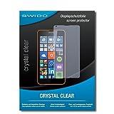 SWIDO Bildschirmschutz für Microsoft Lumia 640 LTE [4 Stück] Kristall-Klar, Hoher Härtegrad, Schutz vor Öl, Staub & Kratzer/Schutzfolie, Bildschirmschutzfolie, Panzerglas Folie