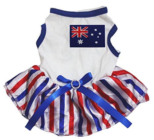 eidung Hund Kleid Australien Flagge weiß TOP Wimpelkette Streifen Tutu (Tutus Australien)