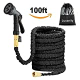 Best Garden Hoses - Hose Pipe Lusanity black 100FT Stronger Double Latex Review