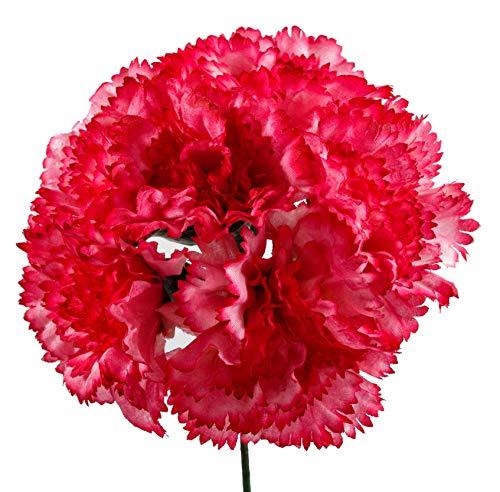 Ramillete de flamenca de claveles frambuesa